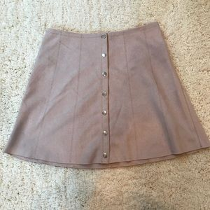 "Forever 21 ""suede"" mini skirt"